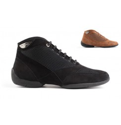 Black dance sneakers for men