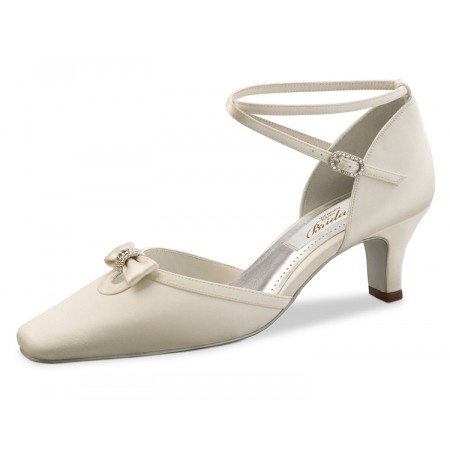 Ivory satin bridal shoes on sale