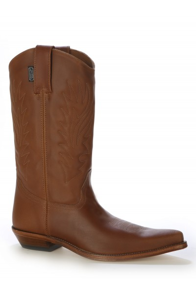 Mexican camel leather cowboy boots