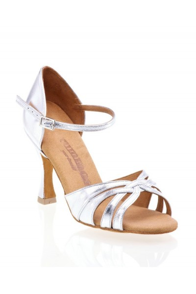 e5d7c05e871 Comfortable silver leather bridal shoes with straps