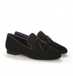 Elegant black tassel loafers for men