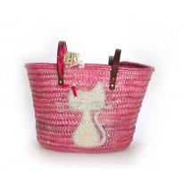 Sea-green beach basket