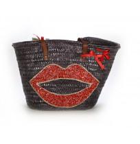 strass star beach bag