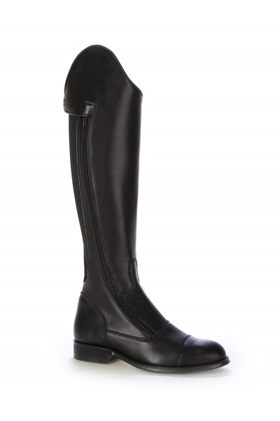 Black elastic horse riding boots