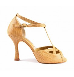 Camel leather ladies dancing shoes