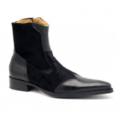 Trendy Pointed toe leather ankle boots for men