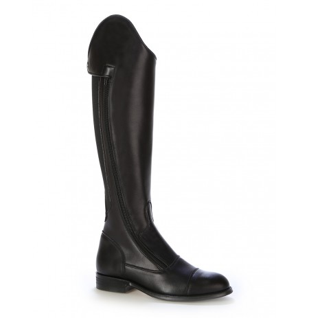 Made to measure black elastic horse riding boots