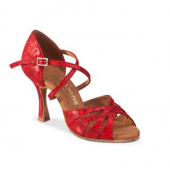 Diva red ballroom dancing shoes
