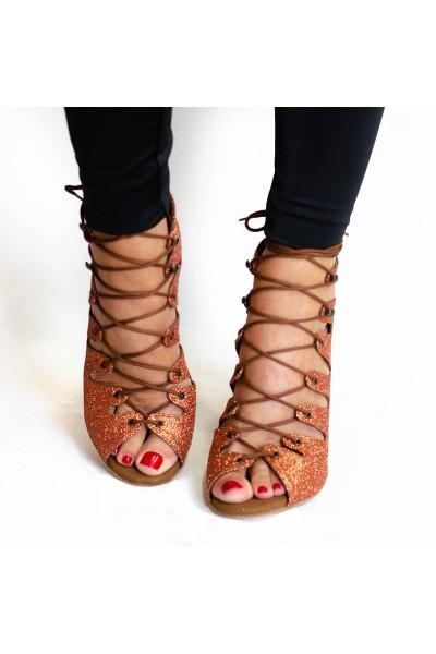 Rhinestone sandal style dance shoes