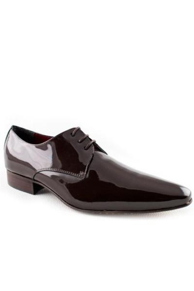 Deep red plain derby shoes MENS