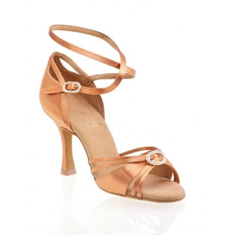 Elegant copper satin dancing shoes