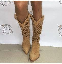 Camel cowboy boots for women