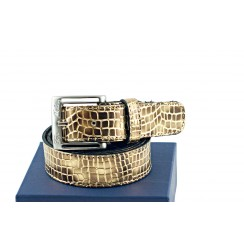 Copper coco leather Belt