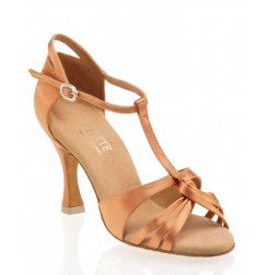 Copper satin salomé dancing shoes