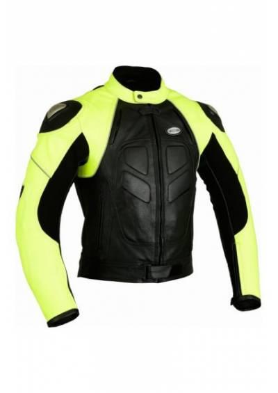 Leather bike jacquet